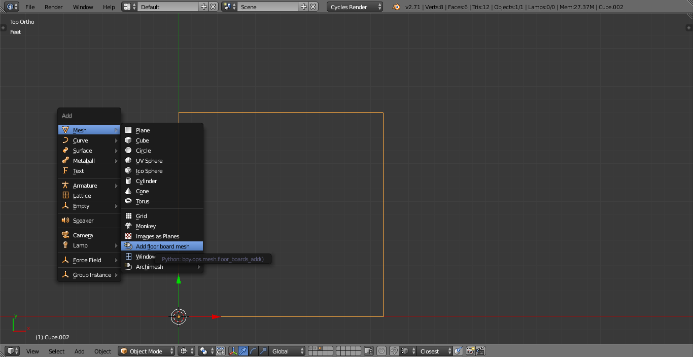 Realistic wood floor in blender cycles 2 7 mu 39 min smith for Add floor